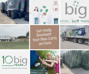 City of Brenham collection carts are here