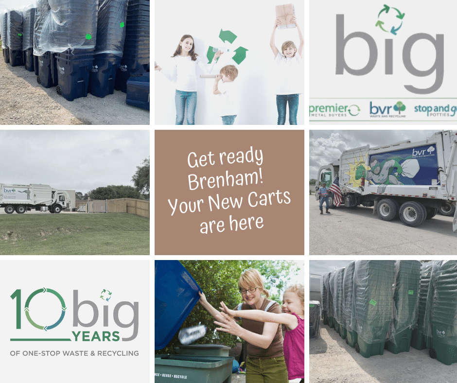 Brenham collection carts are here