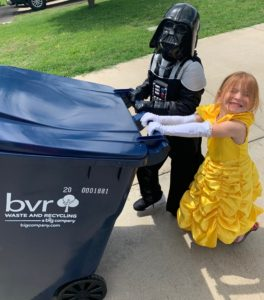 Halloween, Recycling and Covid